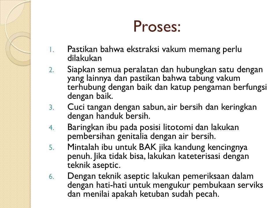 Proses: Pastikan bahwa ekstraksi vakum memang perlu dilakukan