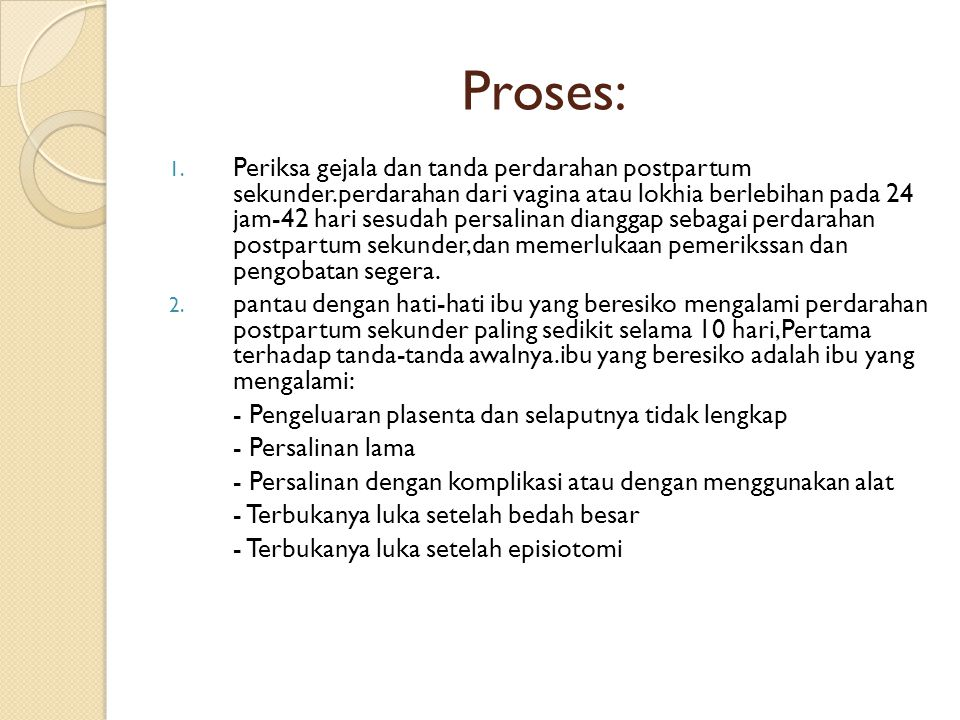 Proses: