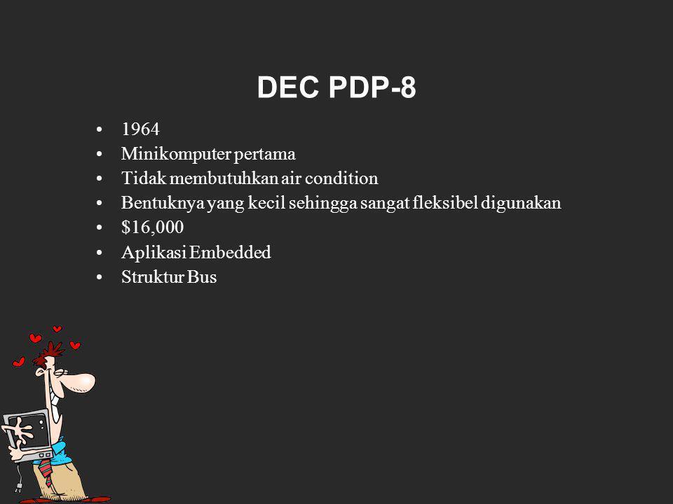 DEC PDP-8 1964 Minikomputer pertama Tidak membutuhkan air condition
