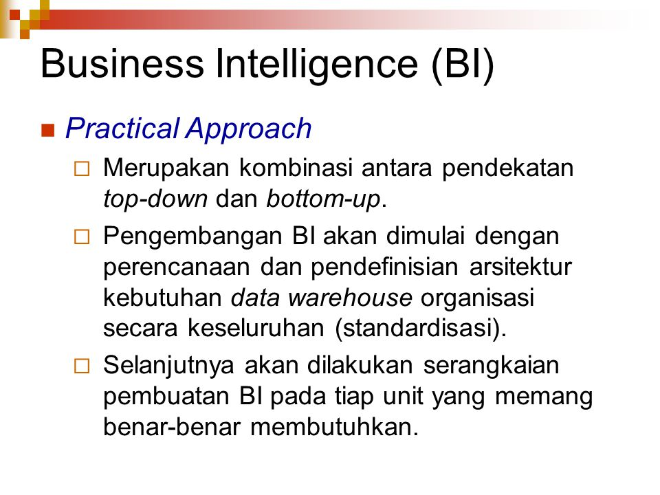 Business Intelligence (BI)