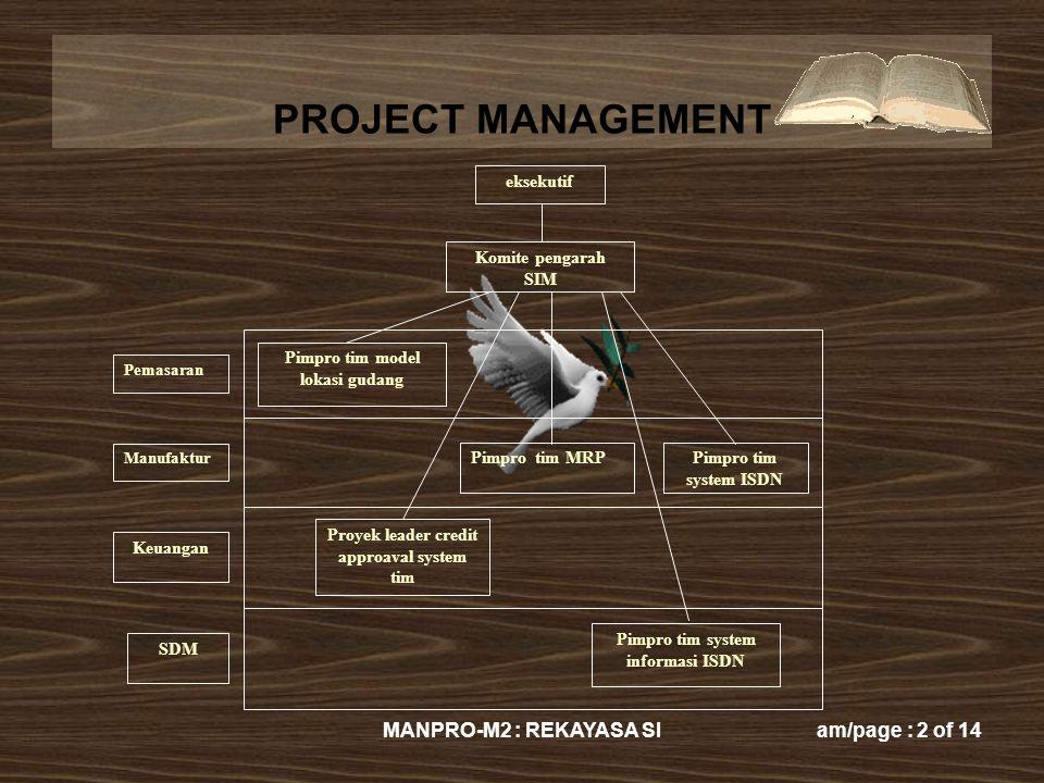 MANPRO-M2 : REKAYASA SI eksekutif Komite pengarah SIM