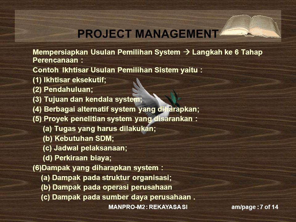 Contoh Ikhtisar Usulan Pemilihan Sistem yaitu :
