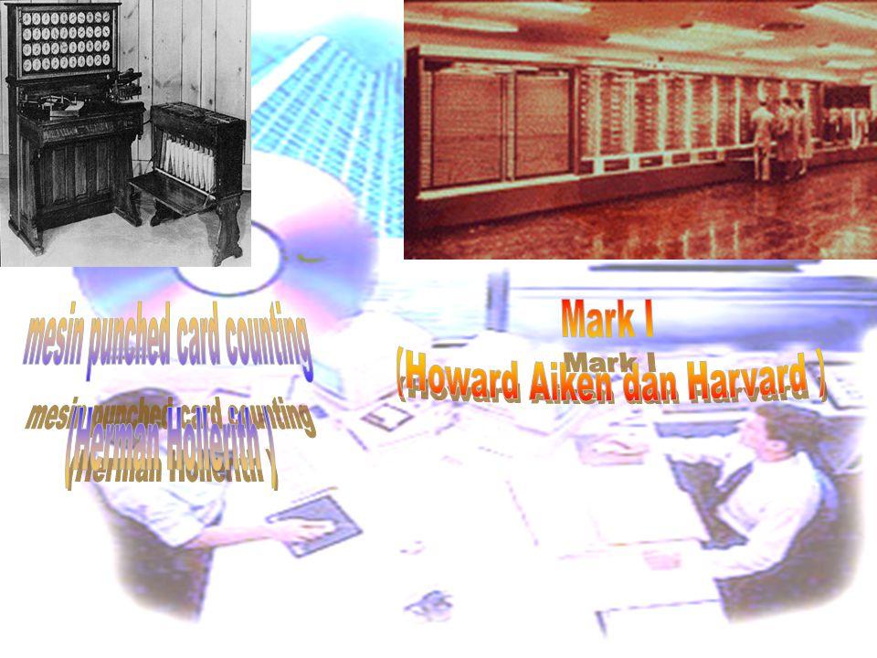 (Howard Aiken dan Harvard ) mesin punched card counting