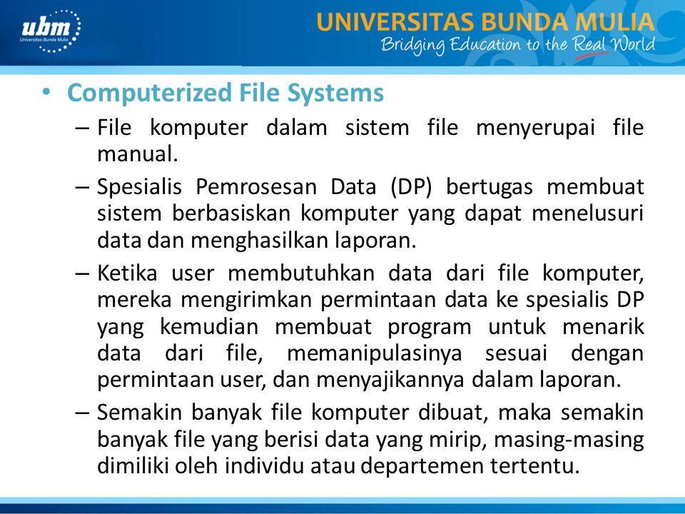 Computerized File Systems