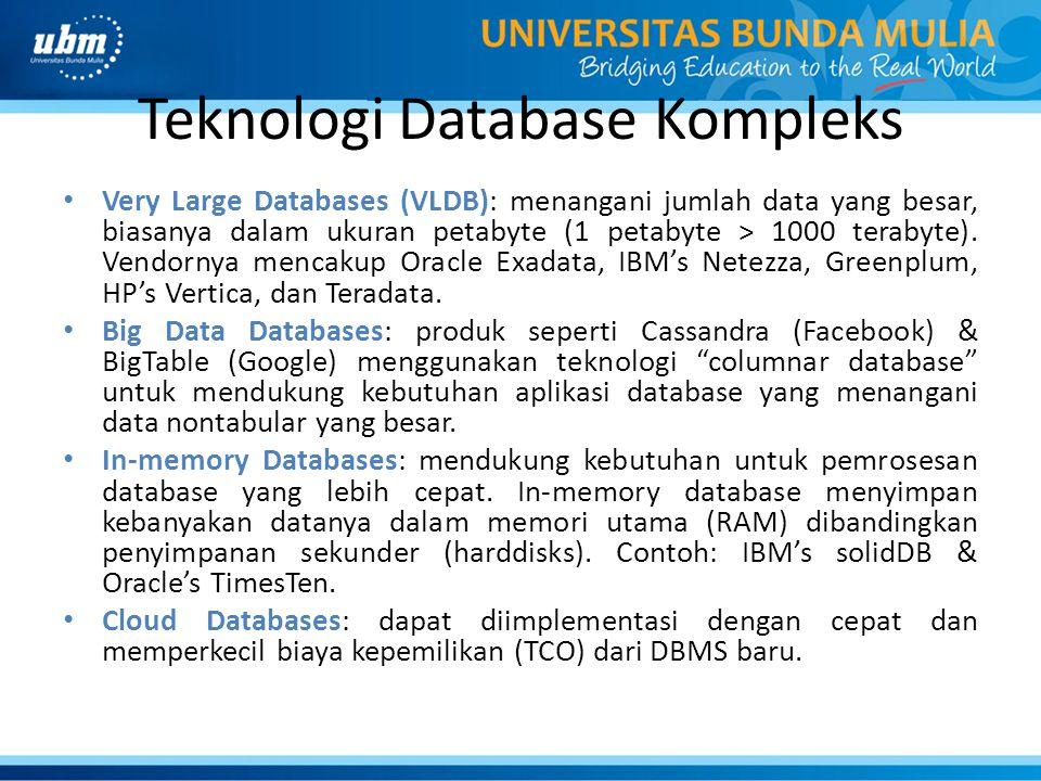 Teknologi Database Kompleks