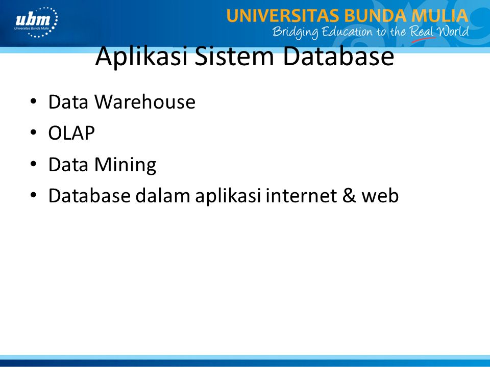 Aplikasi Sistem Database