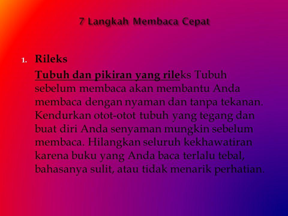 7 Langkah Membaca Cepat Rileks.