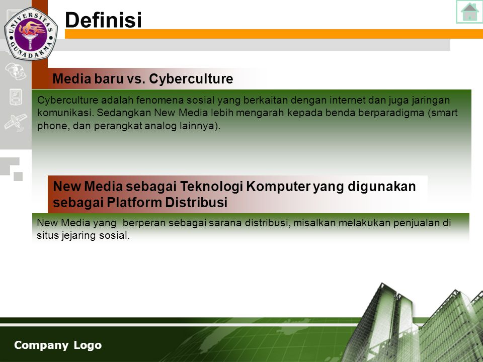 Definisi Media baru vs. Cyberculture