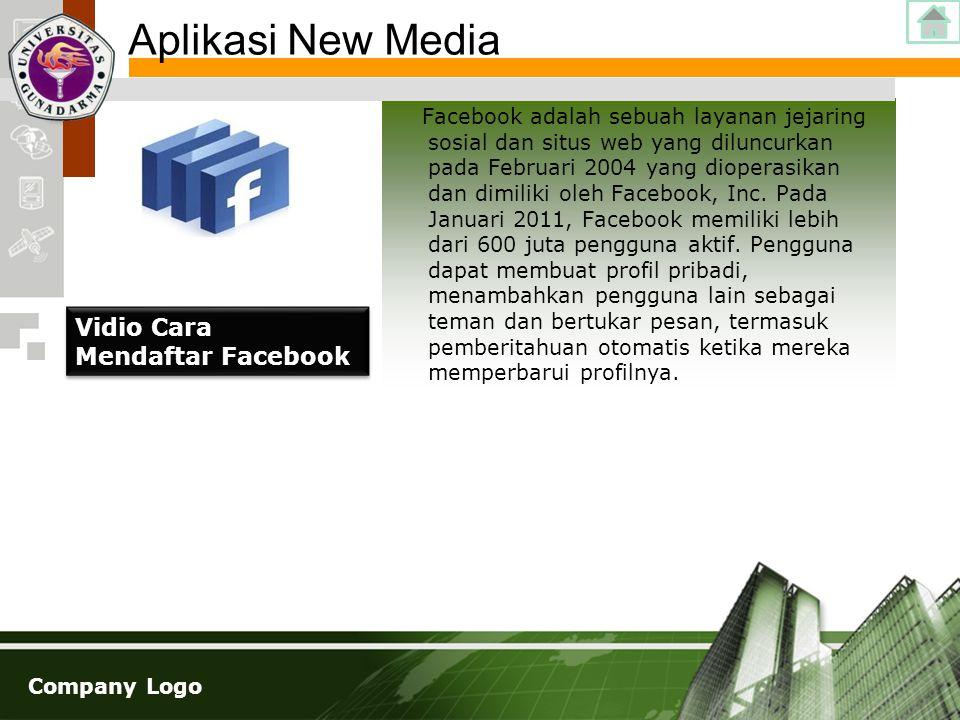 Aplikasi New Media Vidio Cara Mendaftar Facebook