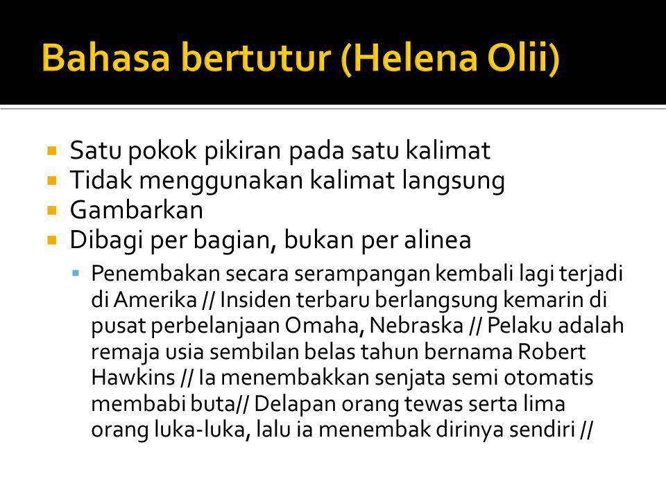 Bahasa bertutur (Helena Olii)