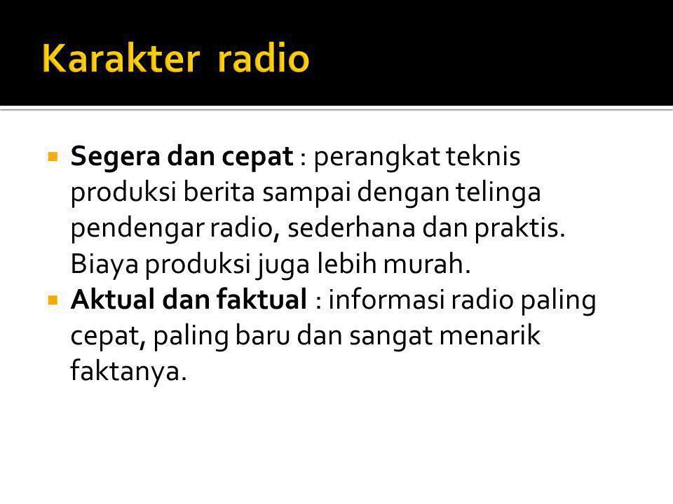 Karakter radio