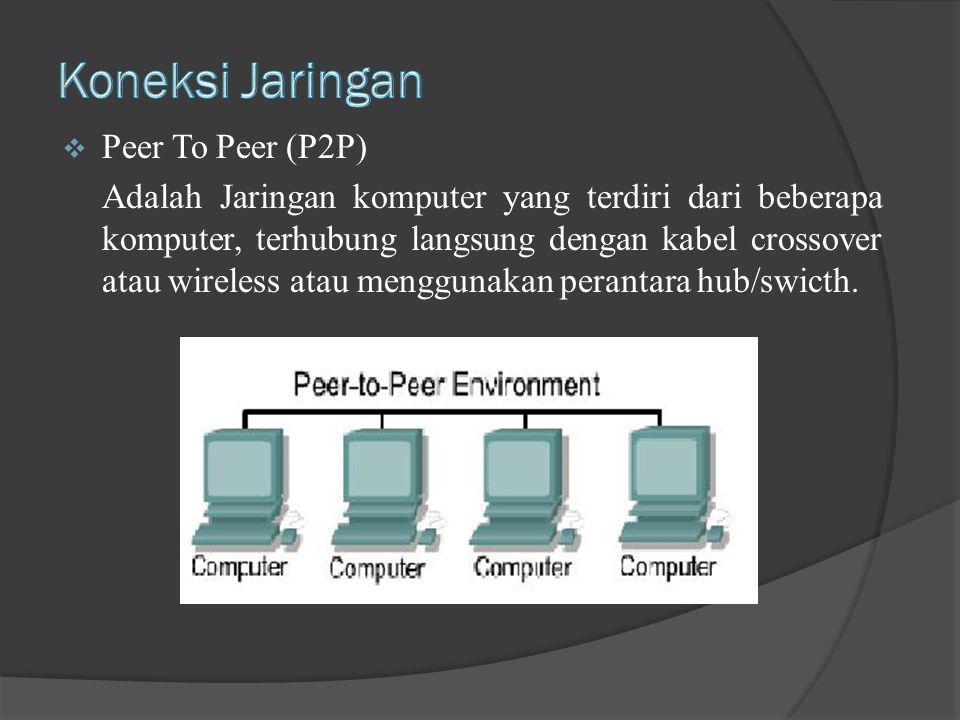 Koneksi Jaringan Peer To Peer (P2P)