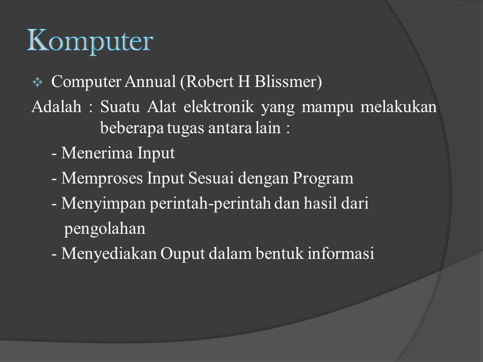 Komputer Computer Annual (Robert H Blissmer)