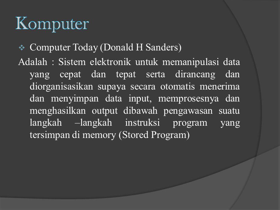 Komputer Computer Today (Donald H Sanders)