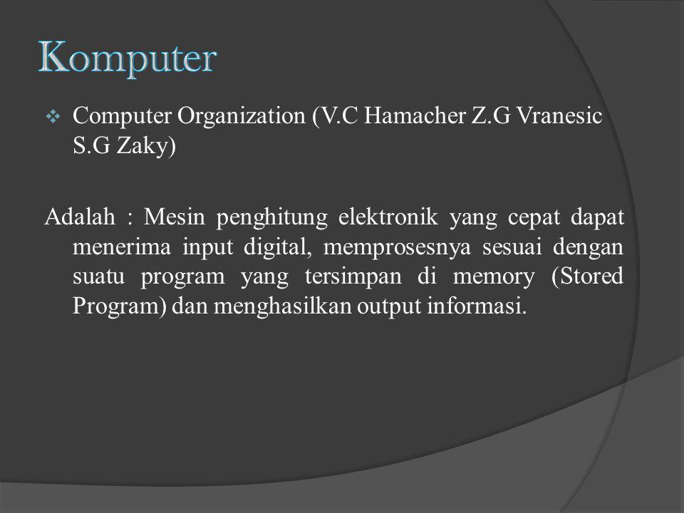 Komputer Computer Organization (V.C Hamacher Z.G Vranesic S.G Zaky)