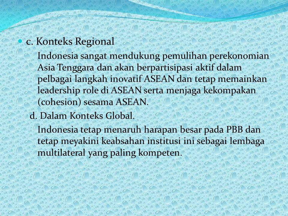 c. Konteks Regional