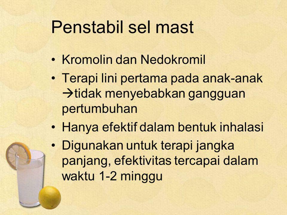 Penstabil sel mast Kromolin dan Nedokromil