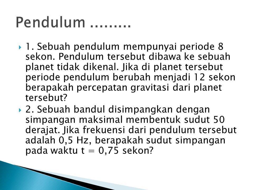 Pendulum .........