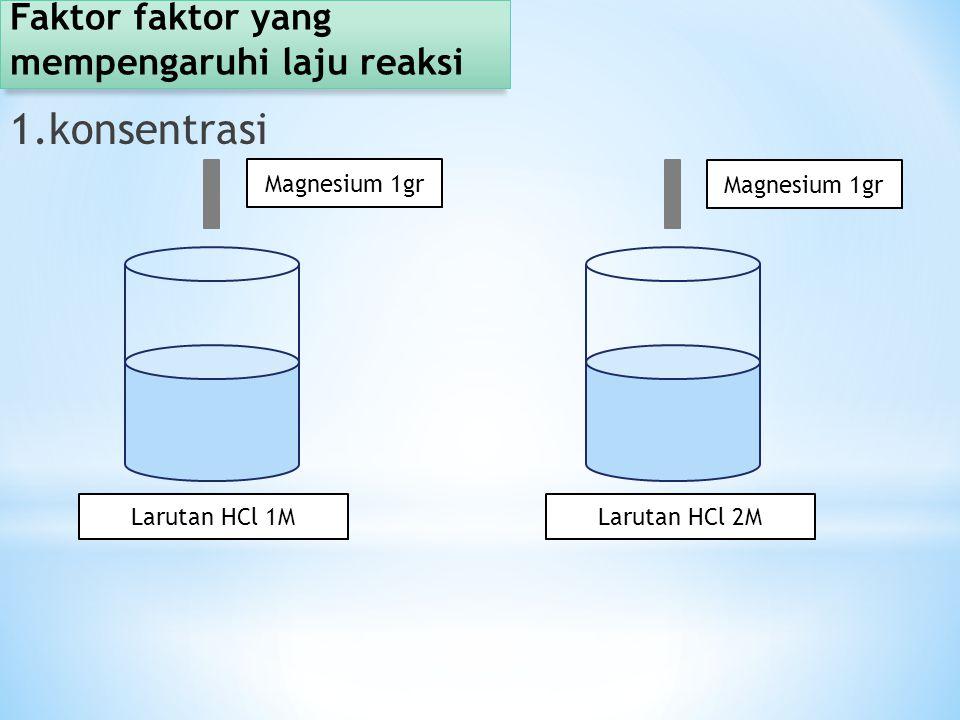 Faktor faktor yang mempengaruhi laju reaksi