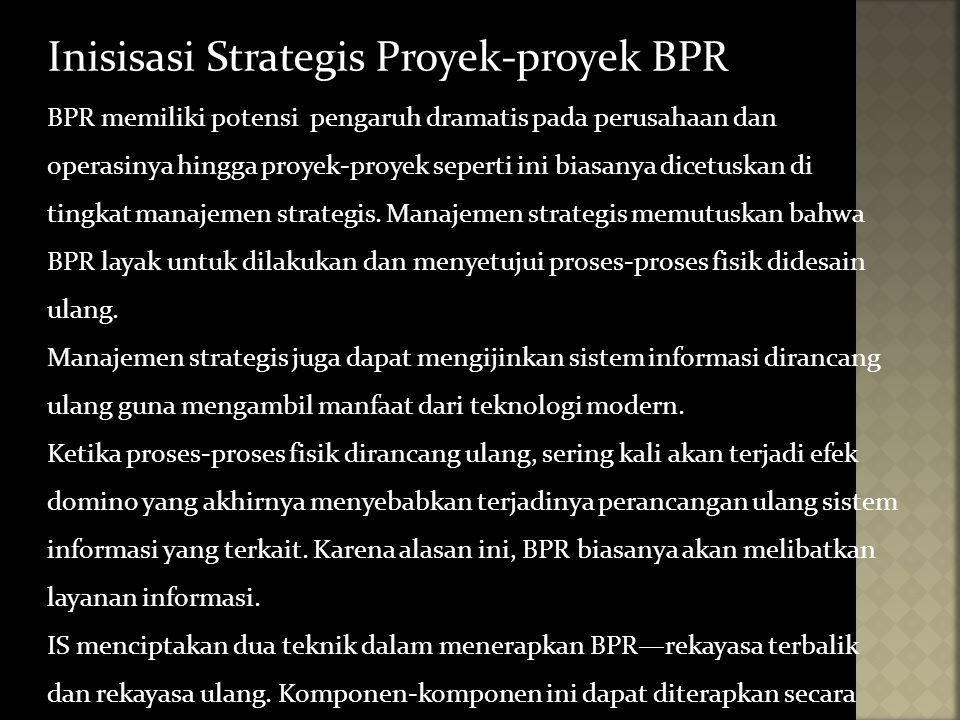 Inisisasi Strategis Proyek-proyek BPR
