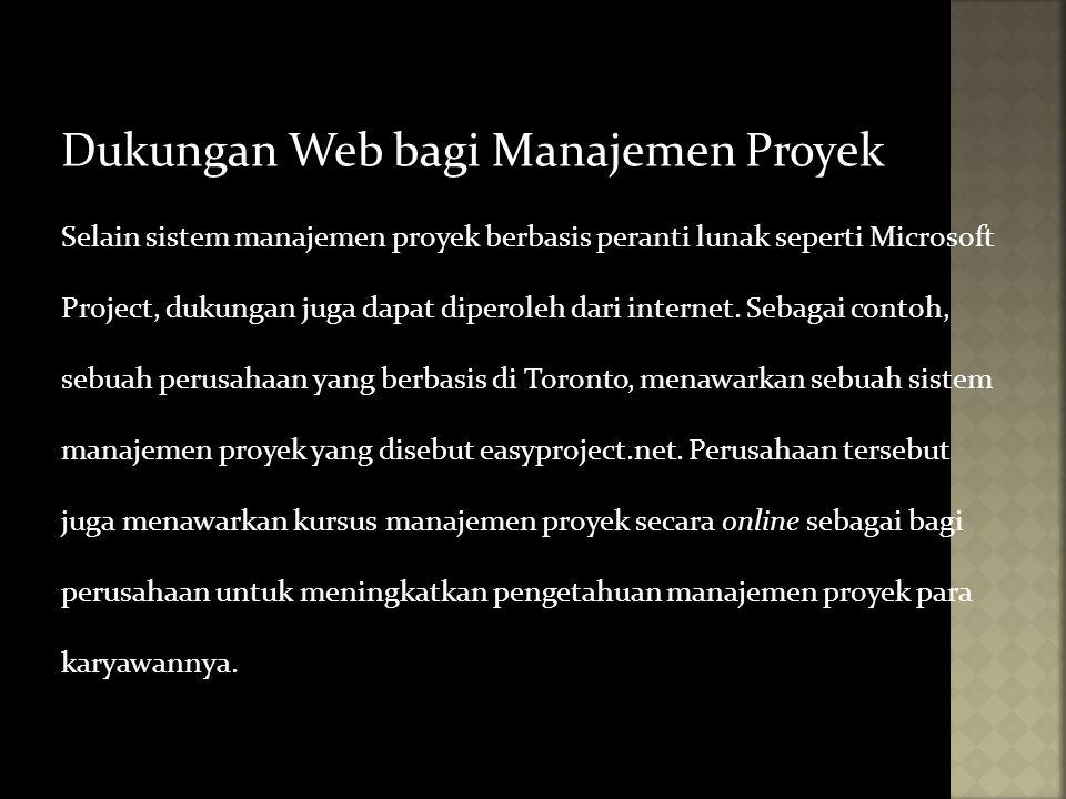 Dukungan Web bagi Manajemen Proyek