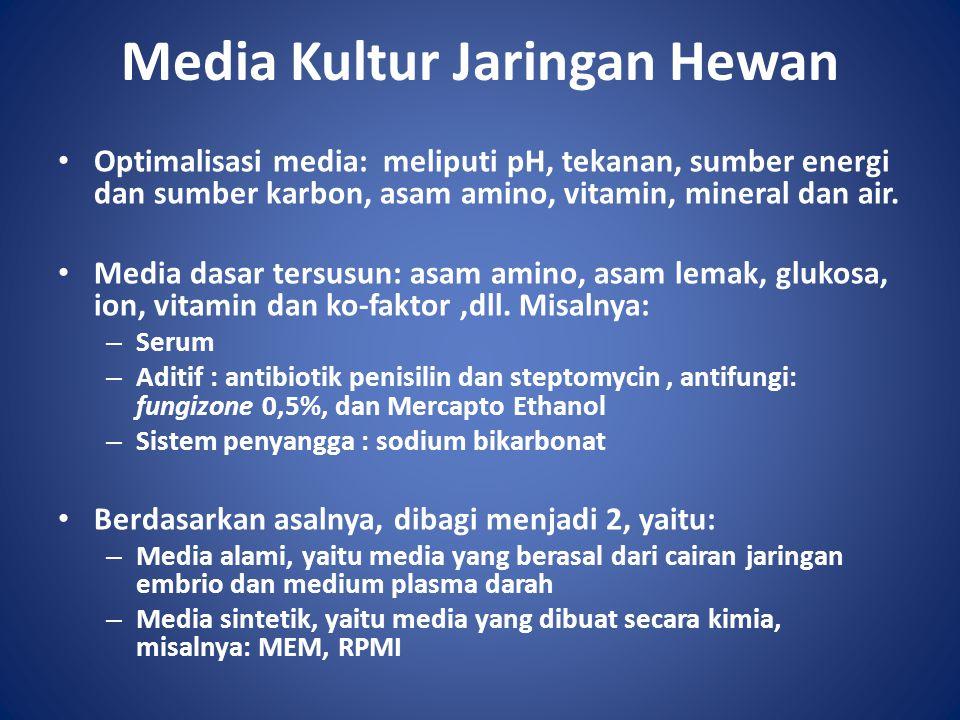 Media Kultur Jaringan Hewan