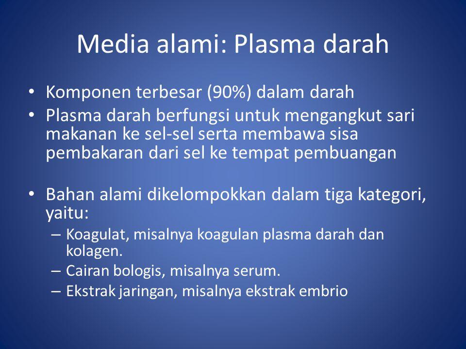 Media alami: Plasma darah
