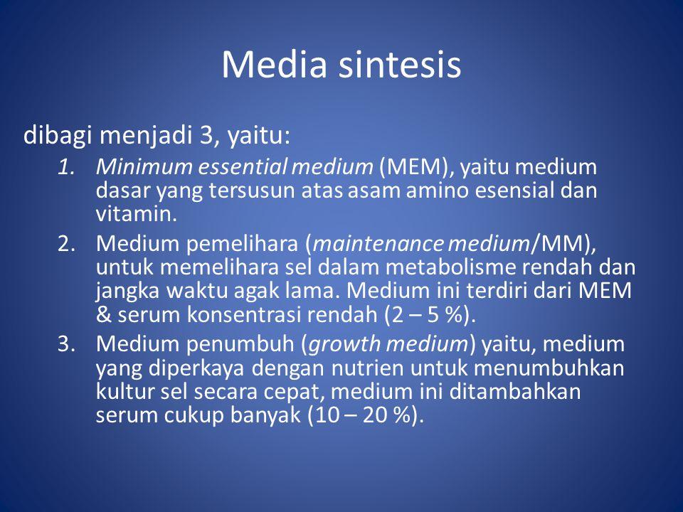Media sintesis dibagi menjadi 3, yaitu: