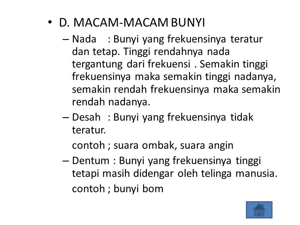 D. MACAM-MACAM BUNYI