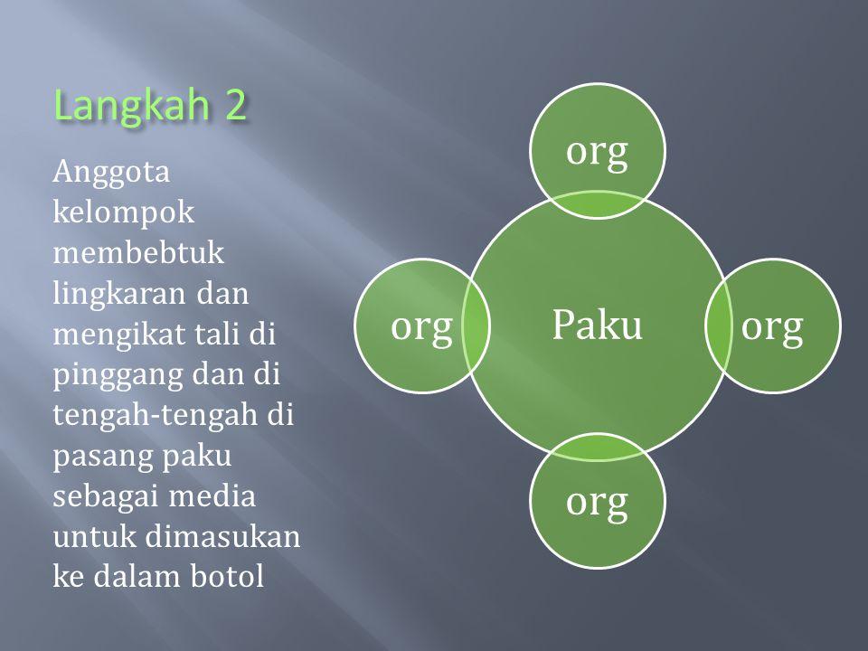 Paku org. Langkah 2.