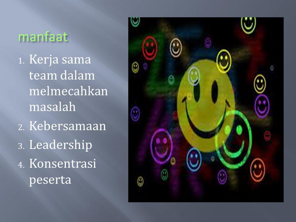 manfaat Kerja sama team dalam melmecahkan masalah Kebersamaan