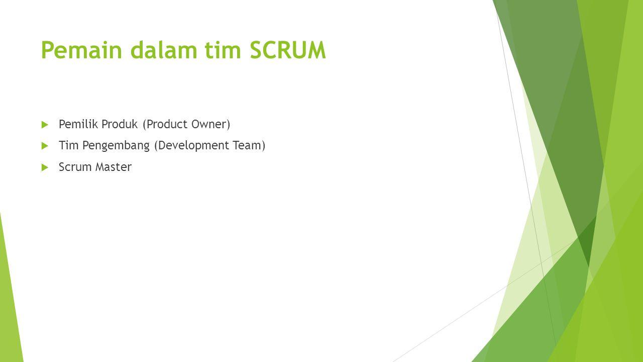 Pemain dalam tim SCRUM Pemilik Produk (Product Owner)