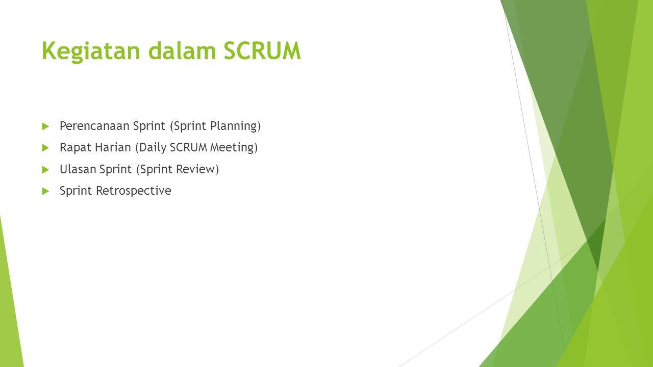 Kegiatan dalam SCRUM Perencanaan Sprint (Sprint Planning)