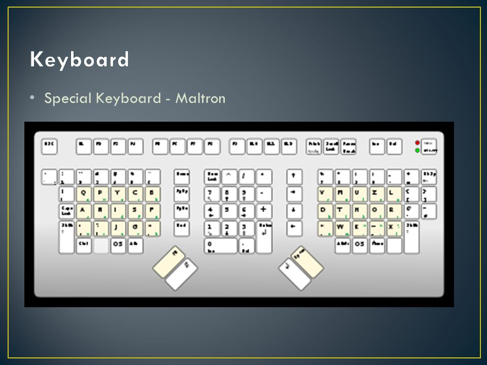 Keyboard Special Keyboard - Maltron