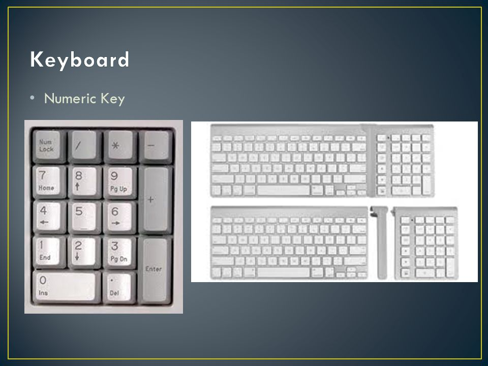 Keyboard Numeric Key