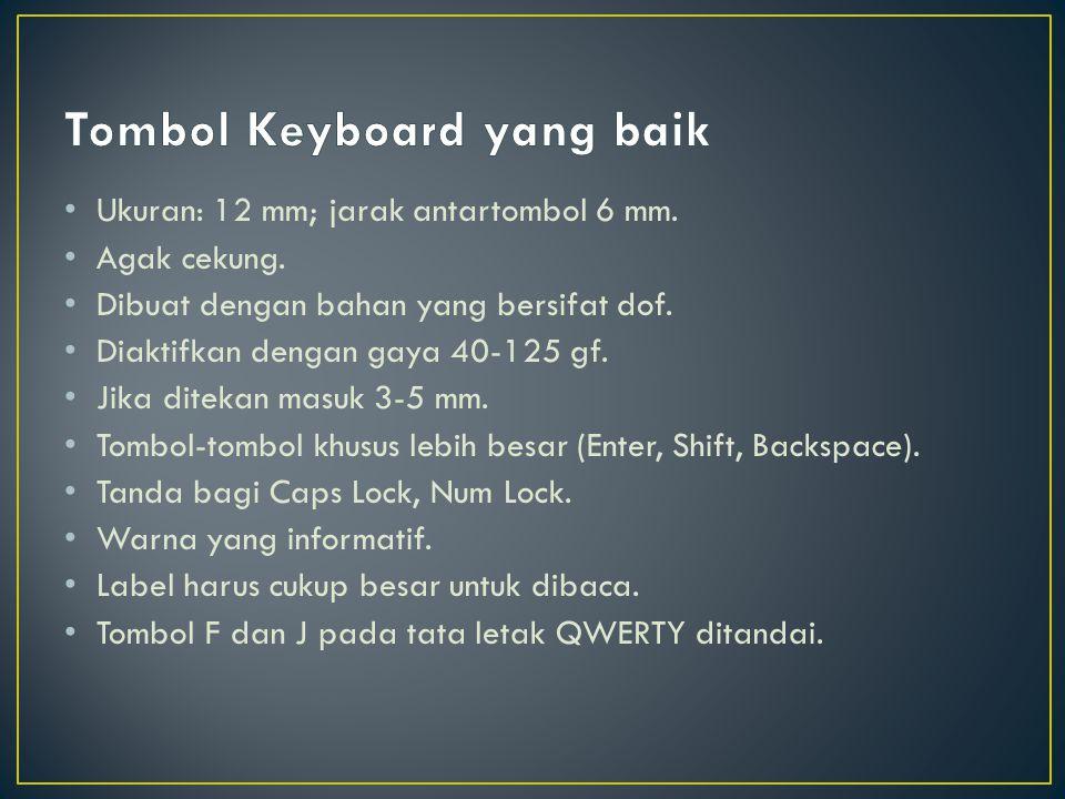 Tombol Keyboard yang baik