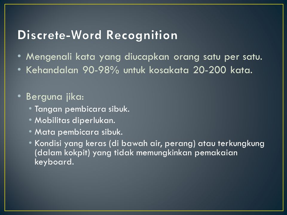 Discrete-Word Recognition
