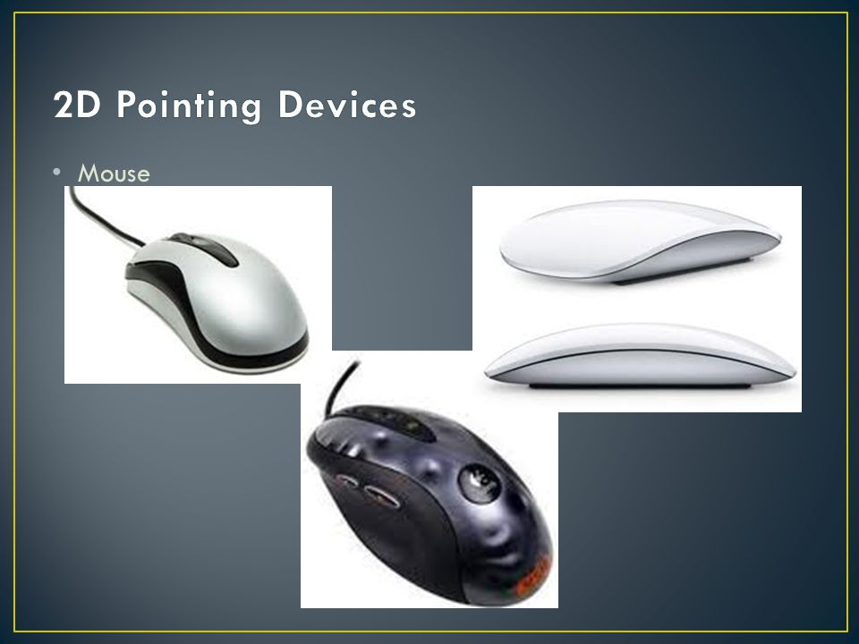 2D Pointing Devices Mouse