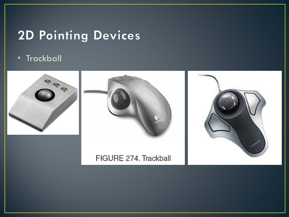 2D Pointing Devices Trackball