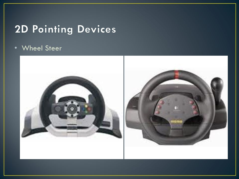 2D Pointing Devices Wheel Steer