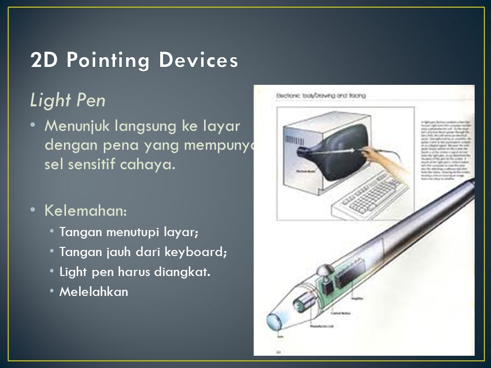 2D Pointing Devices Light Pen