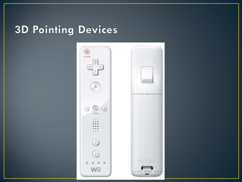3D Pointing Devices