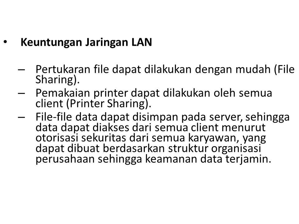 Keuntungan Jaringan LAN