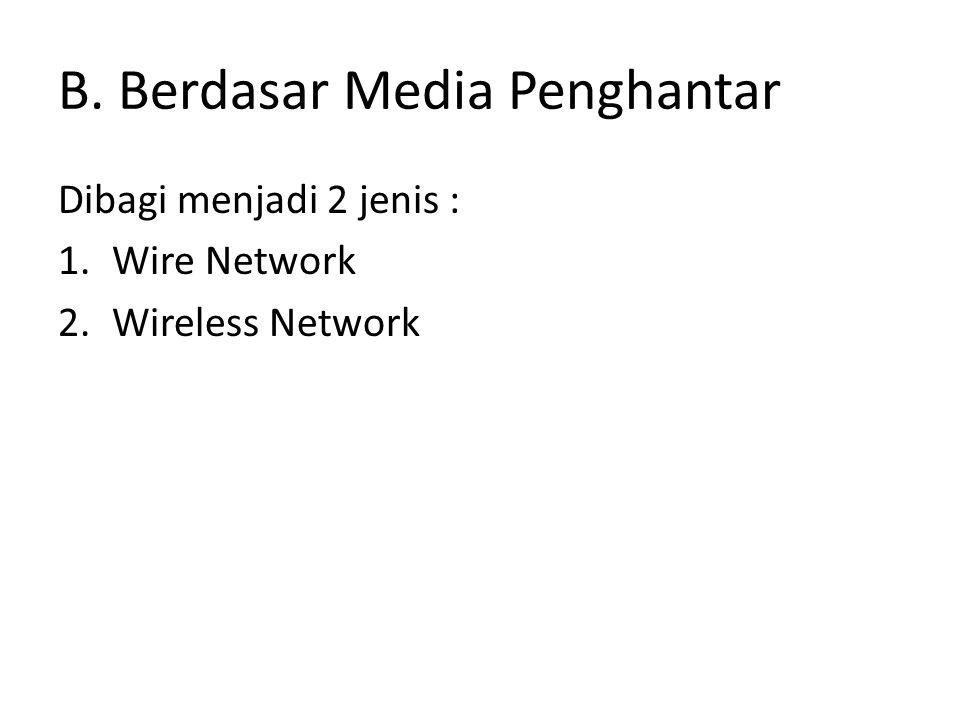 B. Berdasar Media Penghantar