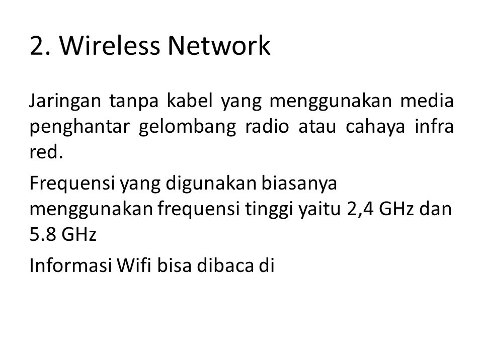 2. Wireless Network