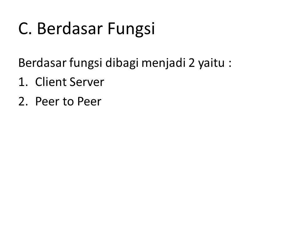 C. Berdasar Fungsi Berdasar fungsi dibagi menjadi 2 yaitu :