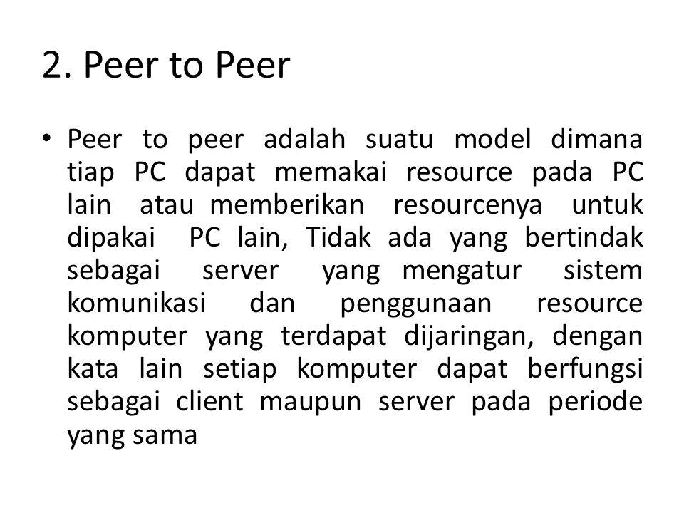 2. Peer to Peer