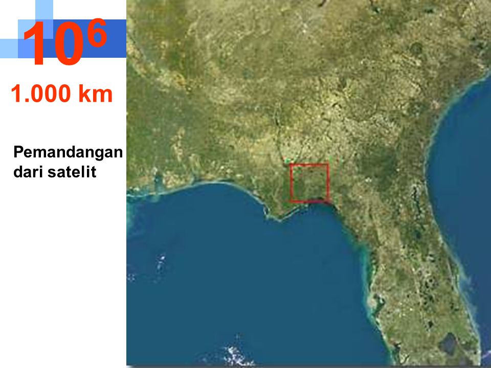 106 1.000 km Pemandangan dari satelit