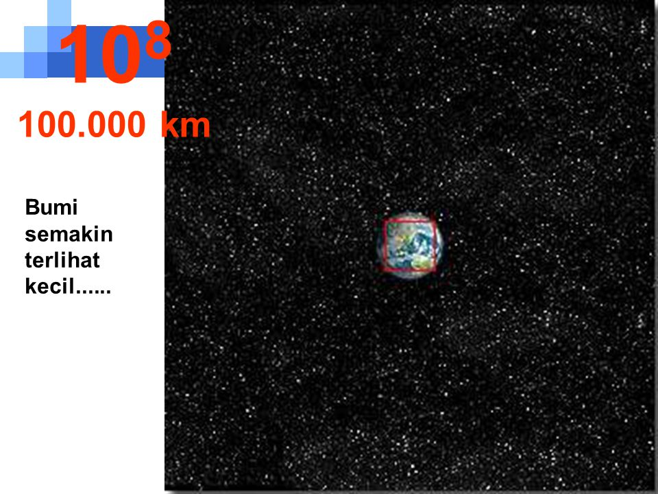 108 100.000 km Bumi semakin terlihat kecil......