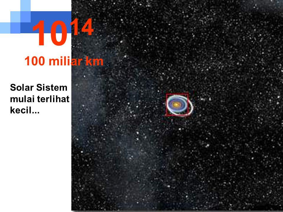 1014 100 miliar km Solar Sistem mulai terlihat kecil...